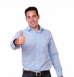 Charming young male with ok sign Royalty Free Stock Photo