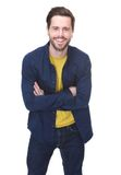 Charming young man with beard smiling Royalty Free Stock Image