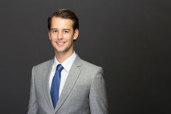 A charming young man on a suit Stock Photography