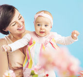 Charming young mother with lovely child Stock Image