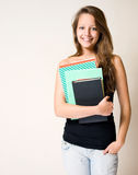 Charming young student. Stock Photo