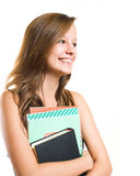 Charming young student. Royalty Free Stock Photos
