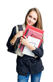 Charming young student girl. Royalty Free Stock Photography
