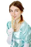 Charming young victorian lady Royalty Free Stock Photo