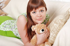 A charming young woman Stock Photos