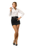 Charming young woman in a black skirt Royalty Free Stock Photo