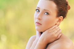Charming young woman close up Stock Images