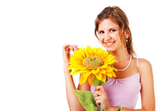 Charming young woman in dress Royalty Free Stock Image