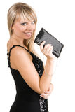 Charming young woman with fancy-bag Stock Photo