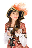 Charming young woman with guns Stock Image