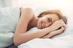 Charming young woman at home Royalty Free Stock Photography