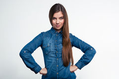 Charming young woman looking at camera Stock Images