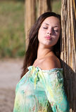 Charming young woman outdoor Royalty Free Stock Images