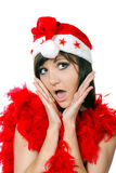 Charming young woman  in santa cap Stock Photography