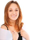Charming young woman smiles Stock Photo