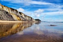 Charmouth海滩 图库摄影