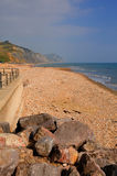 Charmouth beach and coast Dorset England UK Royalty Free Stock Photography
