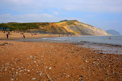 Charmouth beach and coast Dorset England UK with pebbles and shingle Stock Images