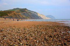 Charmouth beach Dorset England UK with pebbles and shingle Stock Images