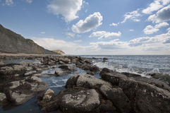 Charmouth Beach in England Stock Photos