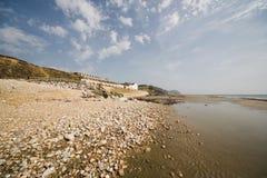 Charmouth giurassico Dorset del litorale fotografia stock libera da diritti