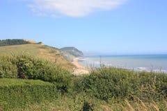 Charmouth jurásico Dorset de la costa imagen de archivo libre de regalías
