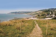 Charmouth jurásico Dorset de la costa Fotos de archivo