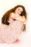 charmy flicka för brunett Royaltyfri Foto