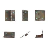 Charnière avec des diamants pour des portes Ensemble de ferronnerie industrielle Mécanisme pour de rétros meubles riches de style illustration stock