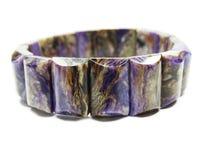 Charoite gemstone bracelet jewelery Stock Photography