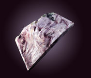 Charoite gemstone on dark Royalty Free Stock Photography
