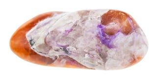 Charoite violeta lustrado na pedra marrom de Tinaksite fotografia de stock royalty free