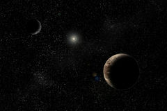 charon Pluto Obrazy Stock