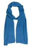 Écharpe en soie bleue Image libre de droits