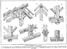 charpente-fermes-2 Royalty Free Stock Photo