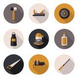 Charpentier plat d'icônes Photos libres de droits