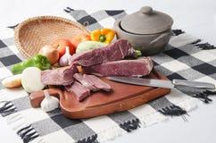 Charque. Brazilian jerked beef Stock Photos