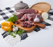Charque. Brazilian jerked beef Stock Images
