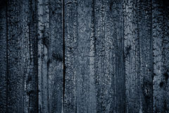 Charred black wooden wall. Royalty Free Stock Image