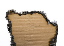 Charred paper Stock Image