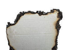 Charred paper Stock Photography