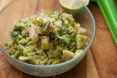 Charred poblano guacamole Royalty Free Stock Photos