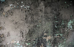 The charred surface of the wall Stock Photos