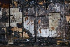 Charred telhou o fundo da parede foto de stock royalty free