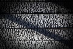 Charred wall as a background Royalty Free Stock Photos