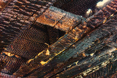 Charred wooden background Royalty Free Stock Photo