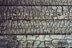 Charred wooden background Stock Photo