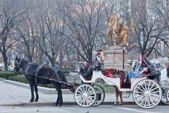 Charriot en Central Park New York City Fotos de archivo