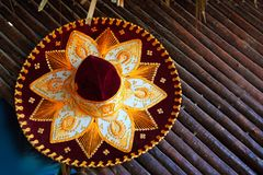 Charro mariachi hat mexican icon from Mexico. Beautiful charro mariachi hat mexican icon from Mexico Royalty Free Stock Photo