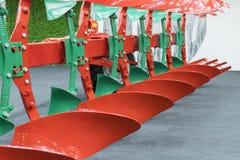 Charrue agricole Charrue pour labourer profondément Subsoiler ou poussoir plat Charrue sur la remorque pour le tracteur Charrue p photographie stock libre de droits
